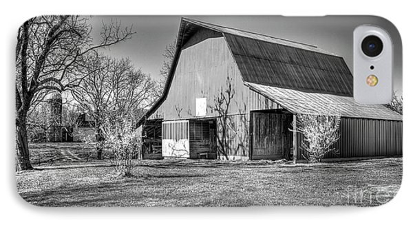 Shadows On The Wall Tennessee Barn Art IPhone Case by Reid Callaway