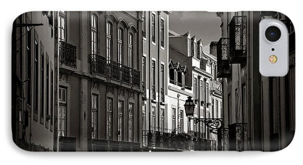 Shadowy Old Lisbon IPhone Case by Carol Japp