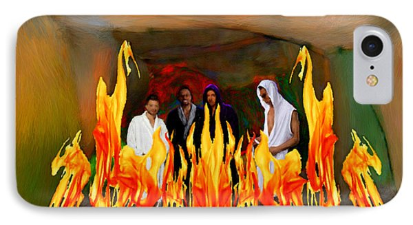 Shadrach Meshach And Abednego  IPhone Case by Bruce Nutting