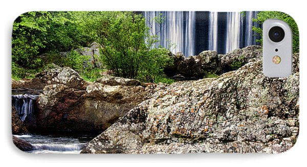 Shady Lake Falls Phone Case by Lana Trussell