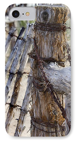 IPhone Case featuring the photograph Shaggy Fence Post by Phyllis Denton
