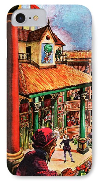 Shakespeare Performing At The Globe Theater IPhone Case by Peter Jackson