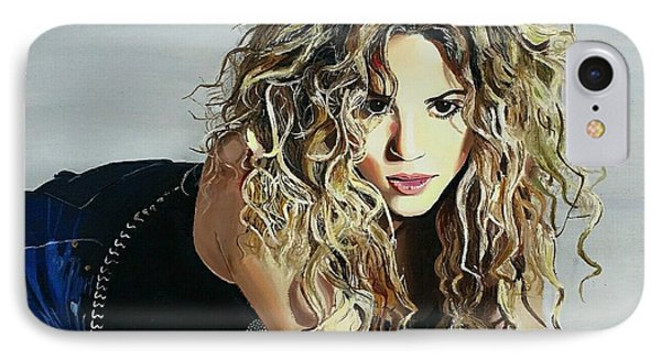 Shakira  IPhone 7 Case by Gitanjali  Sood