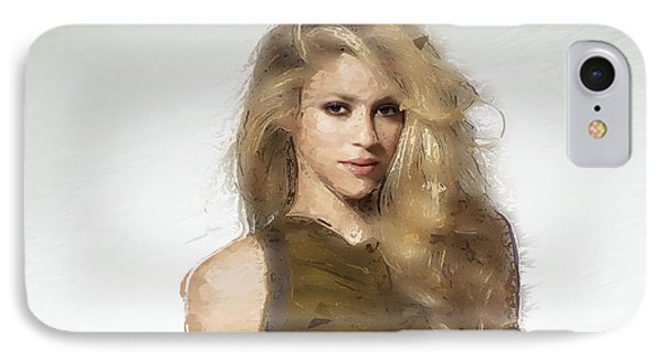 Shakira IPhone 7 Case by Iguanna Espinosa