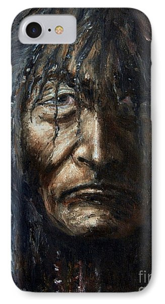 IPhone Case featuring the painting Shaman by Arturas Slapsys