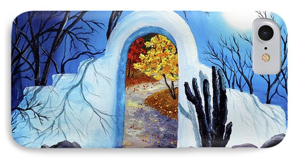 Shamans Gate To Autumn IPhone Case by Laura Iverson