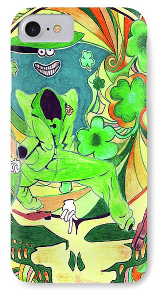 Shamrock Shakedown Phone Case by Kevin J Cooper Artwork