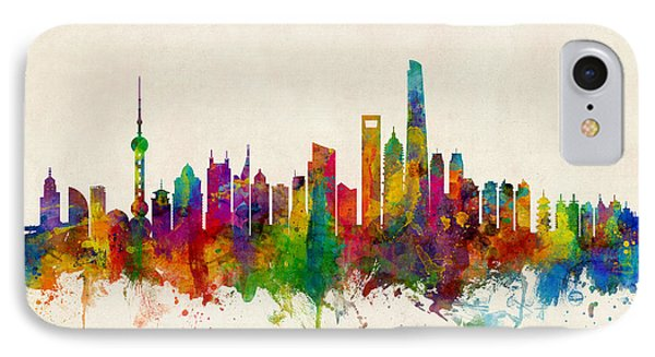 Shanghai China Skyline IPhone Case