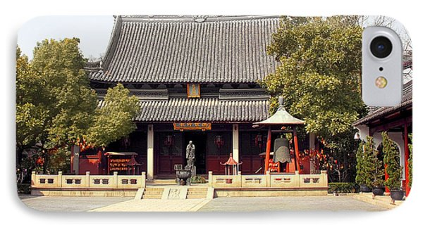 Shanghai Confucius Temple - Wen Miao - Main Temple Building Phone Case by Christine Till