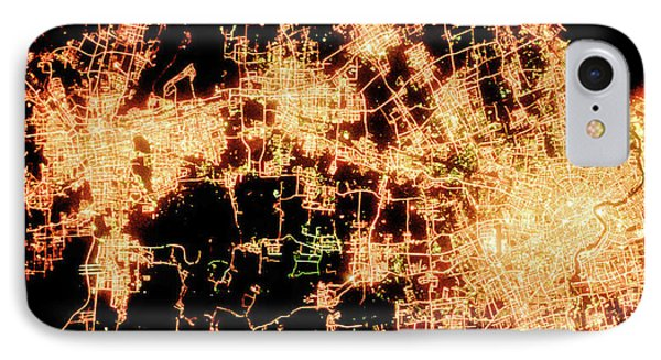 Shanghai From Space IPhone Case by Delphimages Photo Creations
