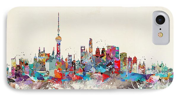 Shanghai Skyline IPhone Case by Bri B