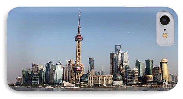 Shanghai Skyline Phone Case by Thomas Marchessault