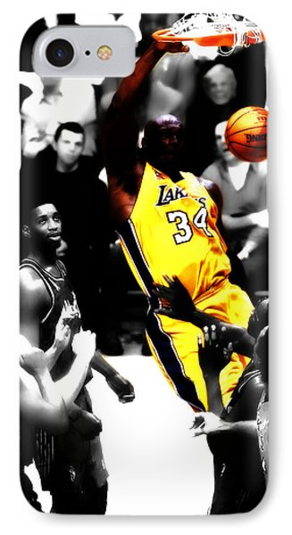 Shaq Monster Slam IPhone Case by Brian Reaves