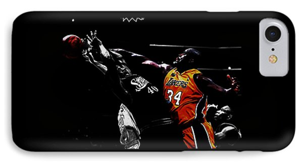 Shaq Protecting The Paint IPhone Case by Brian Reaves