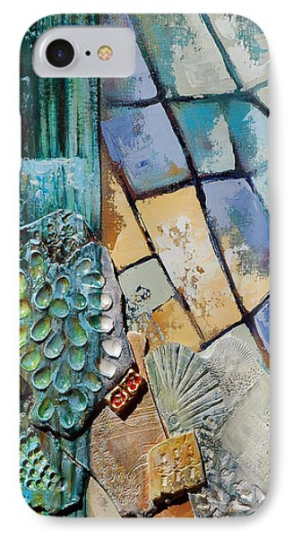 IPhone Case featuring the painting Shards Water Clay And Fire by Suzanne McKee