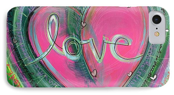 IPhone Case featuring the painting Share My Love Heart by Laurie Maves ART