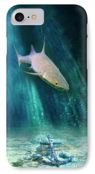 Shark And Anchor IPhone Case by Jill Battaglia