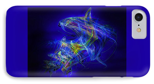 Shark Beauty IPhone Case by Michael Durst
