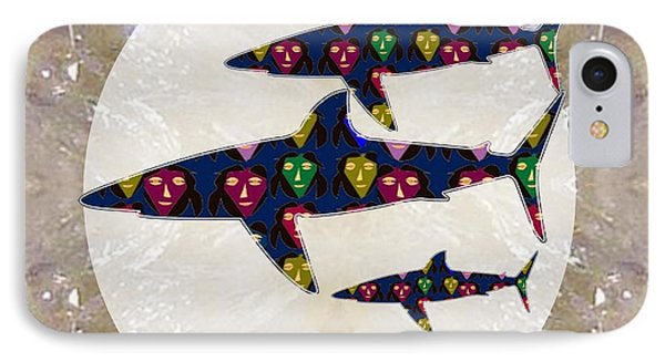 Shark Fish Dangerous Painted Cartoon Face Link For Download Option Below Personal N Commercial Uses IPhone Case by Navin Joshi