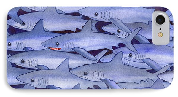 Sharks IPhone Case by Catherine G McElroy
