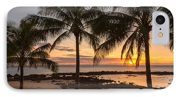 Sharks Cove Sunset 3 - Oahu Hawaii Phone Case by Brian Harig