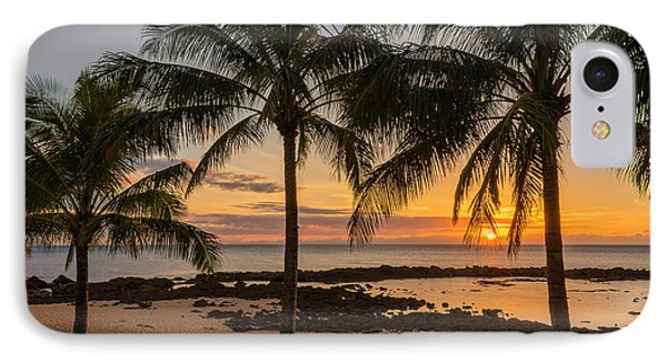 Reef Shark iPhone 7 Case - Sharks Cove Sunset 4 - Oahu Hawaii by Brian Harig