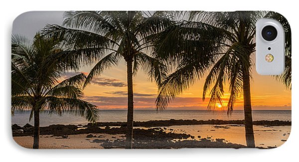 Sharks Cove Sunset 4 - Oahu Hawaii IPhone Case by Brian Harig