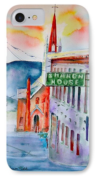 IPhone Case featuring the painting Sharon House by Sharon Mick