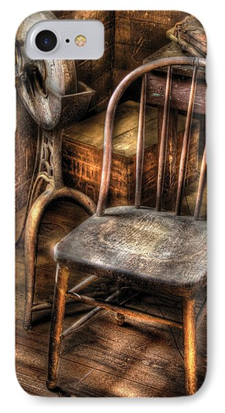 Sharpener - Grinder And A Chair Phone Case by Mike Savad