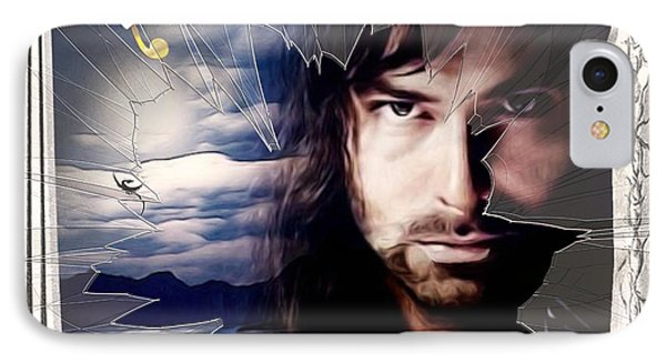 Shattered Kili With Swords IPhone Case by Kathy Kelly