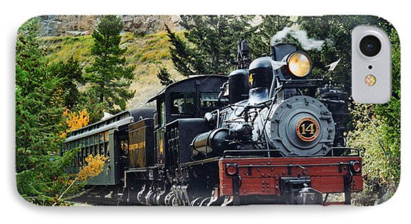 Shay On The Georgetown Loop IPhone Case by Ken Smith
