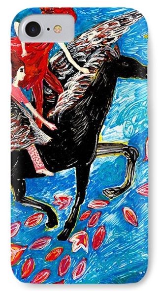 She Flies With The West Wind Phone Case by Sushila Burgess