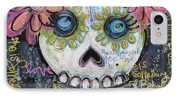 She Is Something To Behold Phone Case by Laurie Maves ART