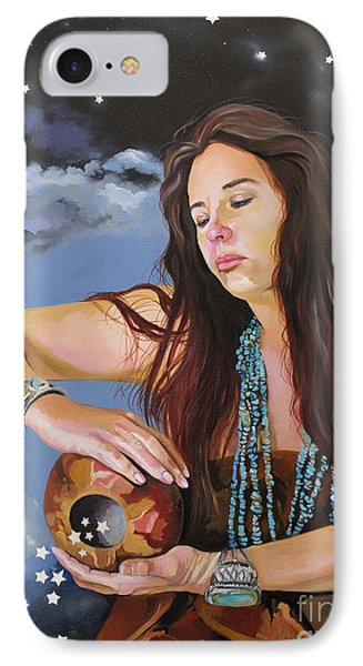 She Paints With Stars Phone Case by J W Baker