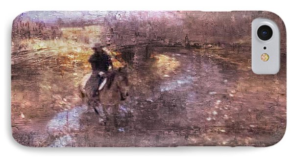 She Rides A Mustang-wrangler In The Rain II IPhone Case by Anastasia Savage Ealy