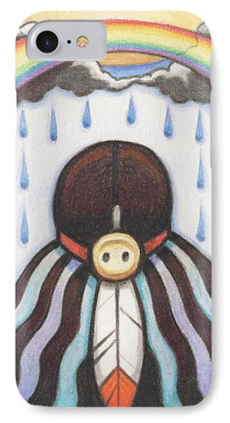She Who Brings The Rain Phone Case by Amy S Turner