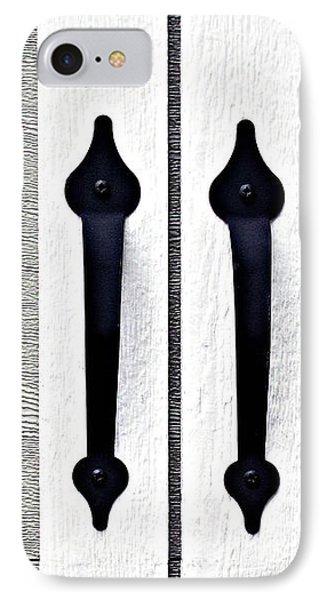 Shed Door Handles IPhone Case by Ethna Gillespie