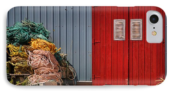 Shed Doors And Tangled Nets Phone Case by Louise Heusinkveld