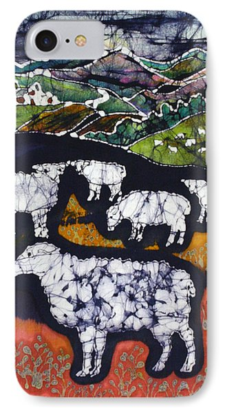 Sheep At Midnight Phone Case by Carol  Law Conklin