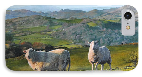 Sheep At Rhug Phone Case by Harry Robertson