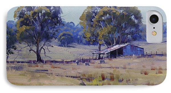 Sheep Farm Landscape IPhone Case by Graham Gercken