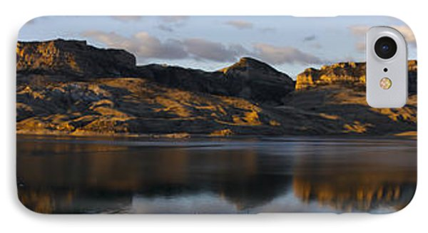 Sheep Mountain Sunrise - Panoramic-signed-12x55 IPhone Case by J L Woody Wooden