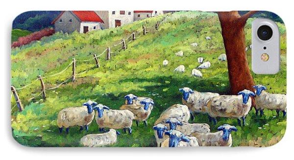 Sheeps In A Field Phone Case by Richard T Pranke