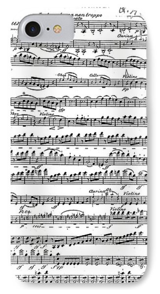Sheet Music For The Overture To Egmont IPhone Case