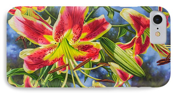 Sheherazade Lilies 1 IPhone Case by Fiona Craig