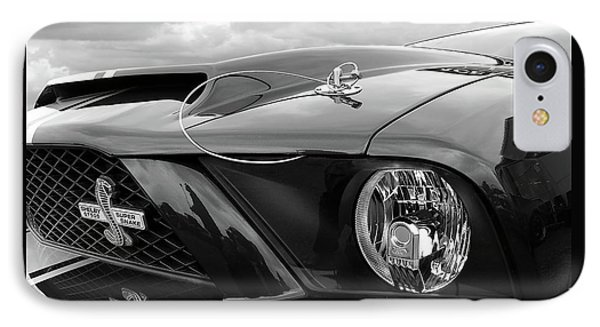 IPhone Case featuring the photograph Shelby Super Snake Mustang Grille And Headlight by Gill Billington