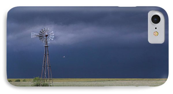 Shelf Cloud And Windmill -02 IPhone Case by Rob Graham