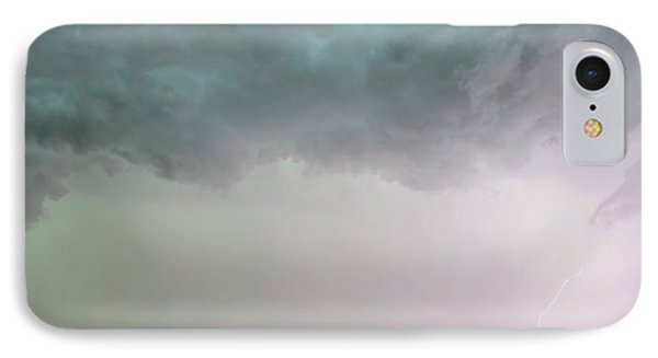 Shelf Cloud And Windmill -05 IPhone Case by Rob Graham