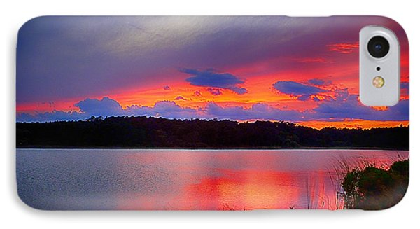 IPhone Case featuring the photograph Shelf Cloud At Sunset by Bill Barber