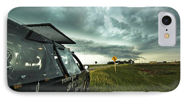 IPhone Case featuring the photograph Shelf Cloud Near Vibank Sk. by Ryan Crouse